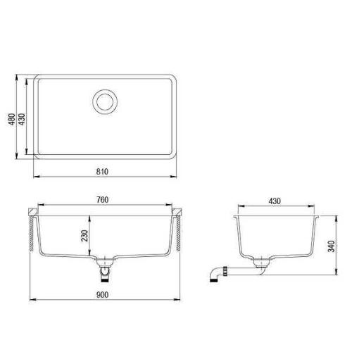 Кухонная мойка AquaSanita Arca SQA104W 710 alba