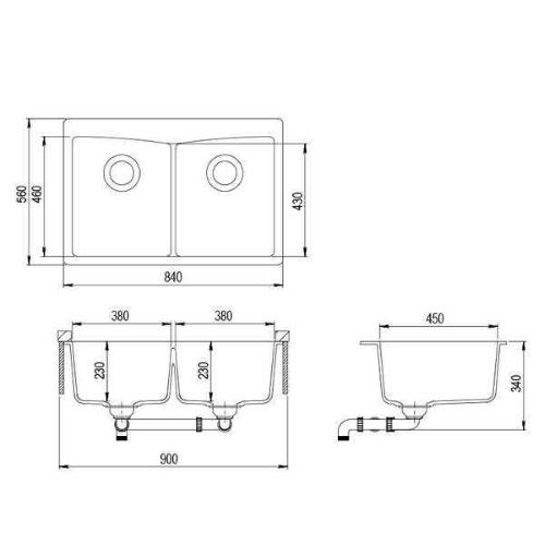 Кухонная мойка AquaSanita Arca SQA210W 110 beige