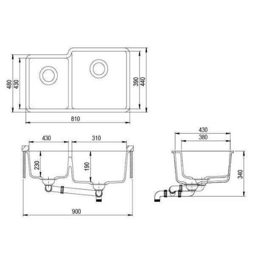 Кухонная мойка AquaSanita Arca SQA 230R 111 silica