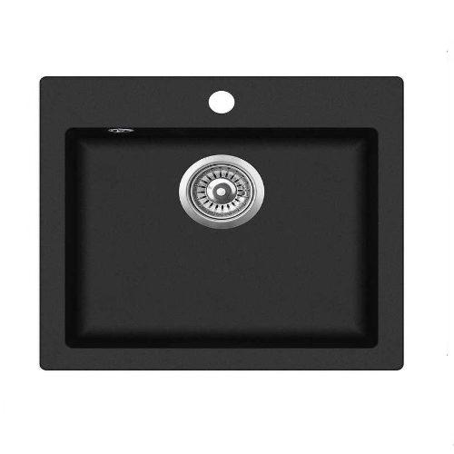 Кухонная мойка AquaSanita Delicia SQC100W 601 black metallic