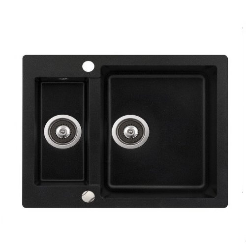 Кухонная мойка AQUASanita Cuba SQC150AW 601 black metallic