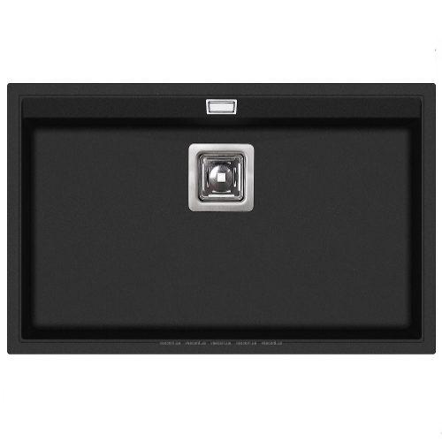 Кухонная мойка AQUASanita SQD101AW 601 black metallic