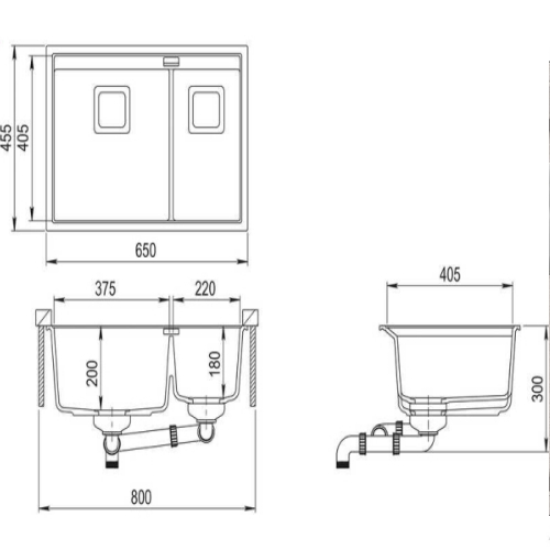 Кухонная мойка AquaSanita Premium Delicia SQD150AW 710 alba