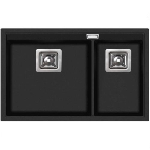 Кухонная мойка AquaSanita Premium Delicia SQD150AW 601 black metallic