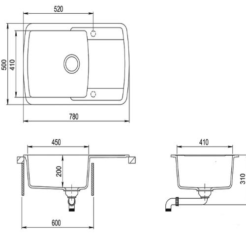 Кухонная мойка Aquasanita Lira SQL101AW 202 alumetallic