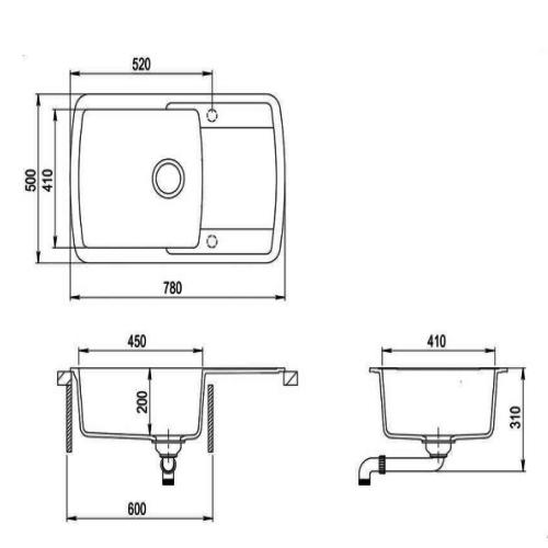 Кухонная мойка AquaSanita Lira SQL101AW 501 copper