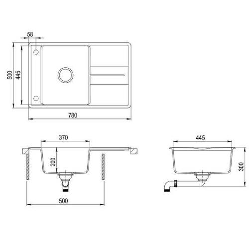 Кухонная мойка AquaSanita Bella SQL101AW 710 alba