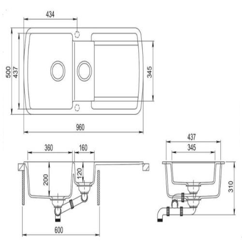 Кухонная мойка AquaSanita Lira SQL151AW 110 beige