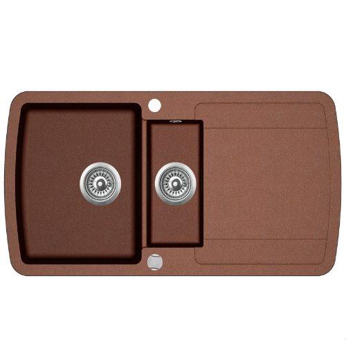 Кухонная мойка AquaSanita Premium Lira SQL151AW 501 copper