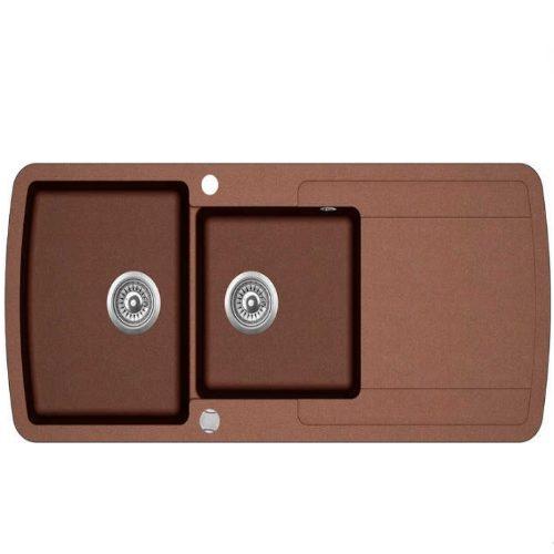 Кухонная мойка AquaSanita Lira SQL201AW 501 copper
