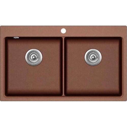 Кухонная мойка Aqua Sanita MAGNA SQM200AW 501 copper