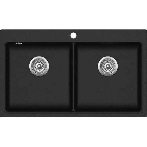 Кухонная мойка Aqua Sanita MAGNA SQM200AW 601 black metallic