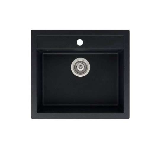Кухонная мойка AQUASanita Quadro SQQ100W 601 black metallic
