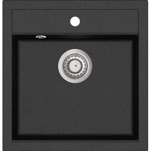 Кухонная мойка Aquasanita Tesa SQT100 601 black metallic