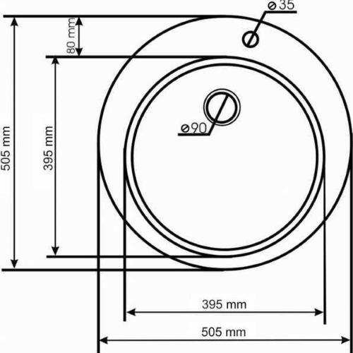 Кухонная мойка AQUASanita Raund SR100W 111 silica