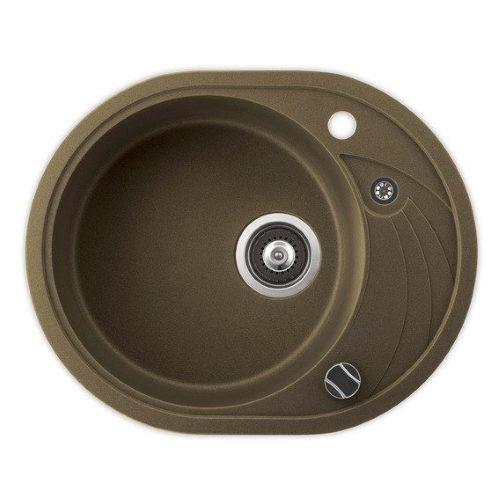 Кухонная мойка AQUASanita SR102AW 301 brass