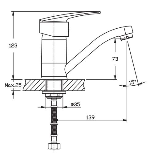 Смеситель для кухни HAIBA AGAT 555-15 CM HB0010