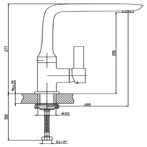 Смеситель для кухни HAIBA ALASKA 018 HB0016