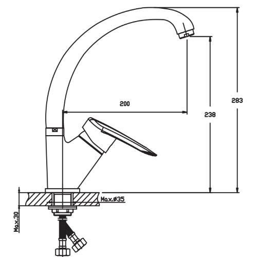 Кухонный смеситель HAIBA DISK 777 HB0059