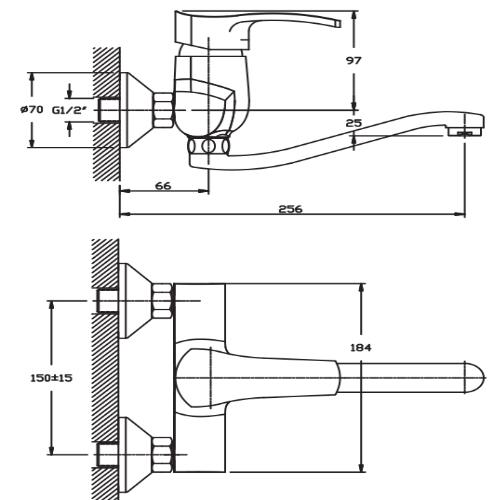 Смеситель для кухни HAIBA FOCUS 005 HB0118