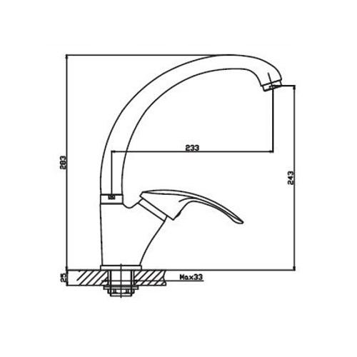 Смеситель для кухни HAIBA MARS 777 ГАЙКА WHITE HB0275