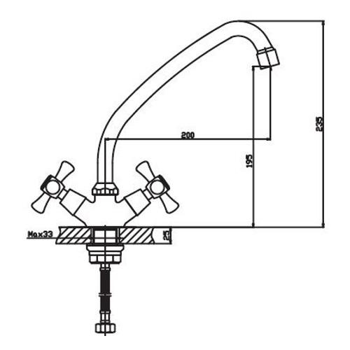 Смеситель для кухни HAIBA SMES 271 ГАЙКА HB0373