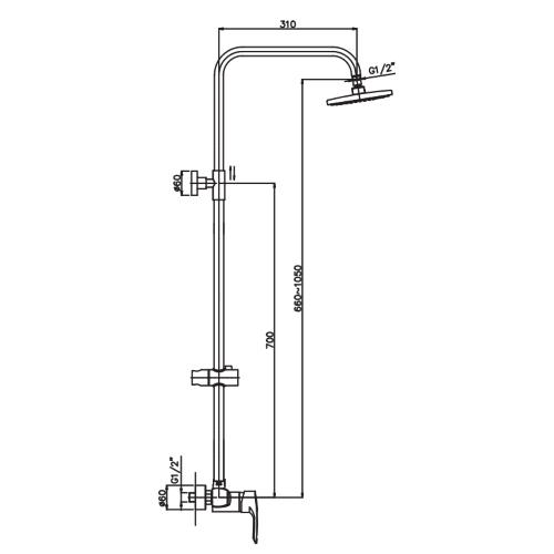 Душевая колонна HAIBA HANSBERG 003-J HB0778