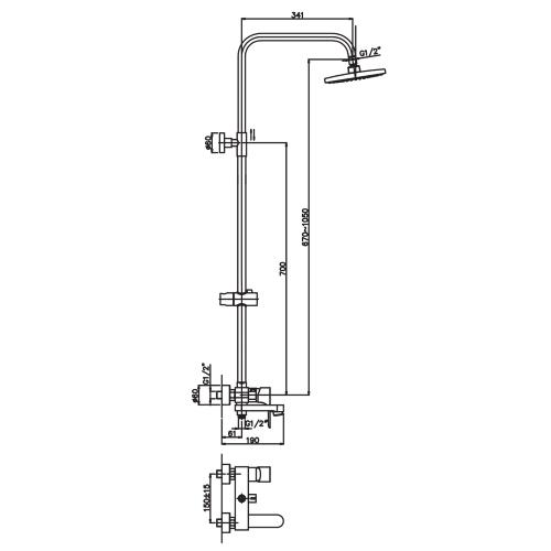 Душевая колонна HAIBA MILANO 003-J HB0784