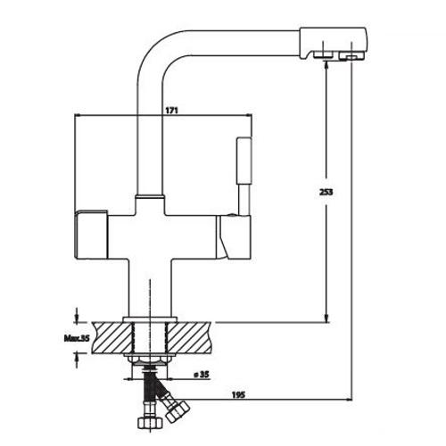 Смесители для питьевой воды HAIBA HANS 021 НЕРЖ HB0817
