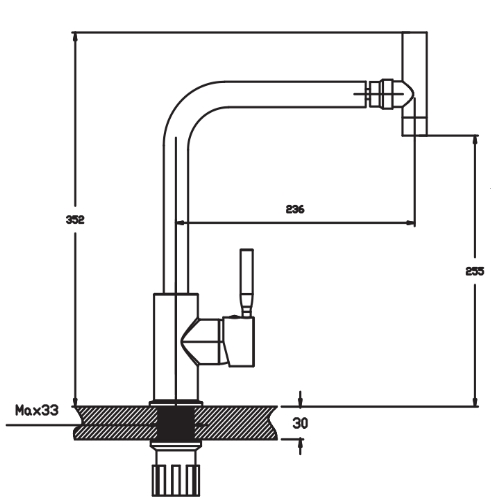 Смеситель для кухни HAIBA HANS 025 HB0819