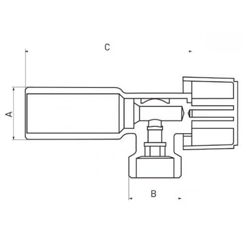 Угловой кран FERRO Z1234K