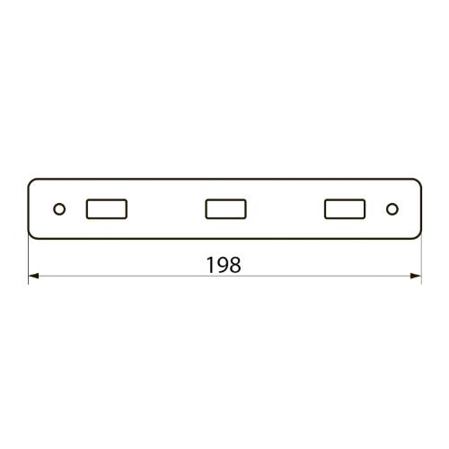 Крючок 3шт прямые Imprese BITOV 101111