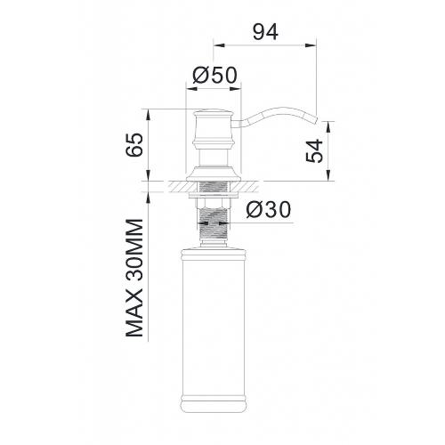 Дозатор для моющего средства врезной ZMK01170130 PODZIMA LEDOVE Imprese
