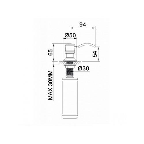 Дозатор для мыла врезной ZMK02170830 PODZIMA ZRALA Imprese