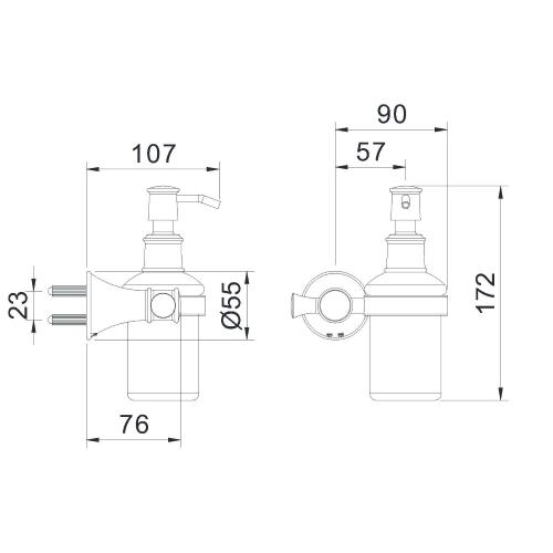 Дозатор для средства настенный ZMK02170831 PODZIMA ZRALA Imprese