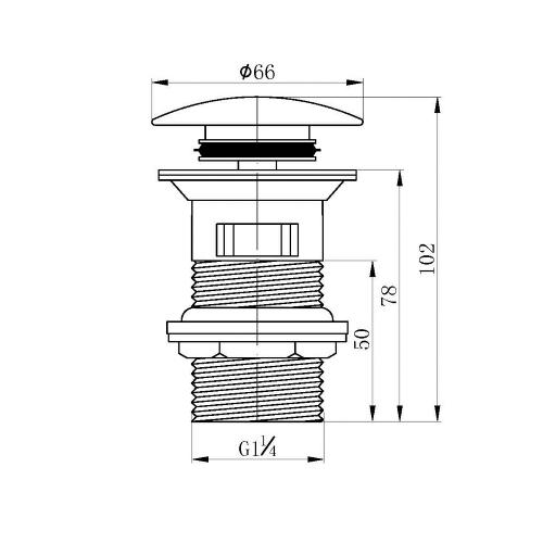 Клапан донный для умывальника ZMK041807500 GRAFIKY Pop-up чёрный никель Imprese