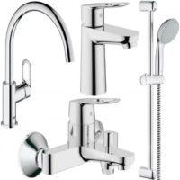 Набор смесителей для ванны+кухня Grohe BauLoop 123225K (23337000+32815000+27598000+31368000)