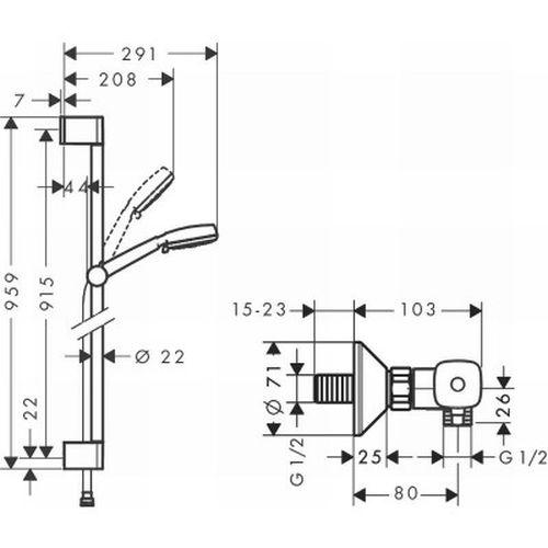Душевой комплект Hansgrohe Crometta 10027031400
