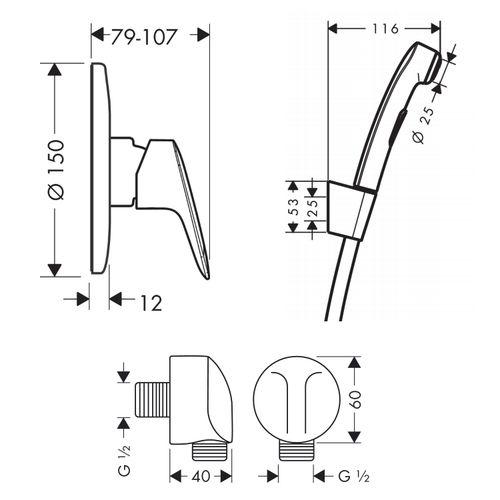 Набор смесителей скрытого монтажа HANSGROHE LOGIS 71666111