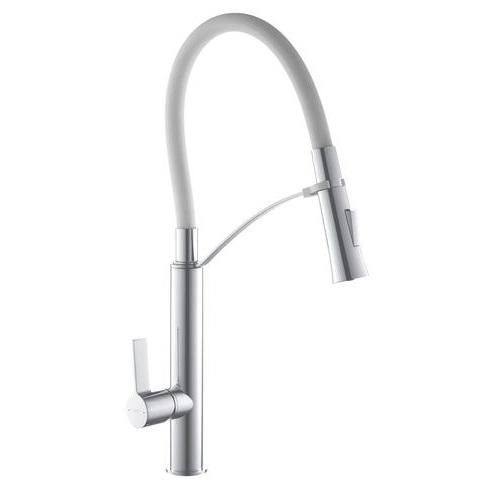 Смеситель для кухни на пружине TOPAZ SARDINIA-P 8817-H23-W-S