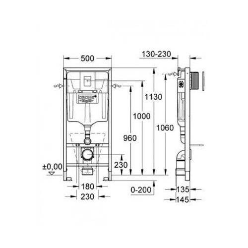 Инсталляционная система Grohe Rapid SL 38911000