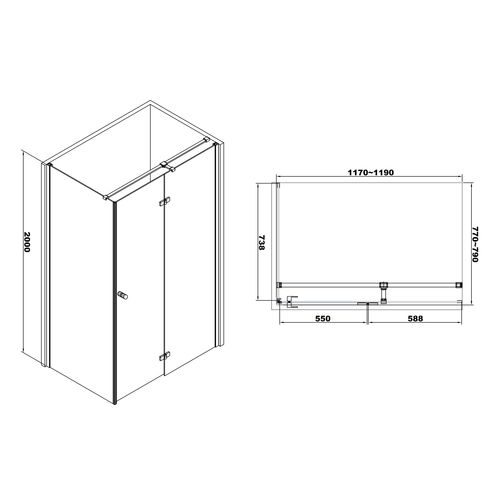 Душевая кабина Volle Libra 10-22-908Rglass