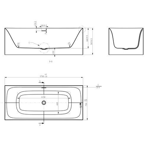 Акриловая ванна Volle 12-22-858