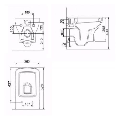 Подвесной унитаз с крышкой Volle Larios 13-27-385
