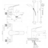 Набор смесителей для ванны QT Set CRM 35-111 16511Q-TAP
