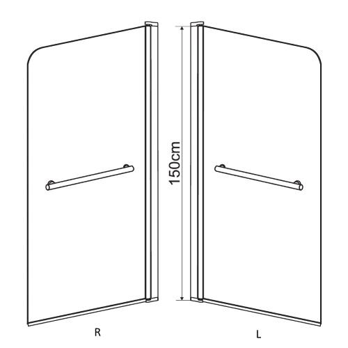 Шторка для ванны EGER 599-02L grey
