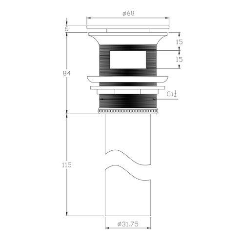 Донный клапан Volle 90-00-060