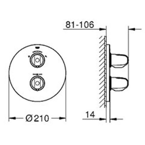 Смеситель с термостатом Grohe Grohtherm 1000 19985000GROHE