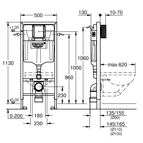 Инсталляционная система Grohe Rapid SL 39501000GROHE