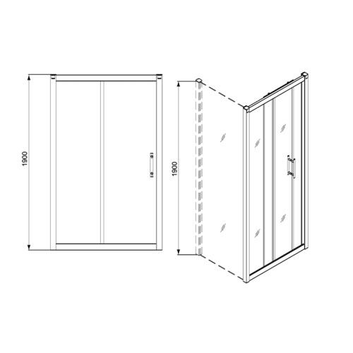 Душевые двери KOLO Geo 6 GDRS10222003